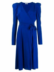 P.A.R.O.S.H. puff-sleeve wrap dress - Blue