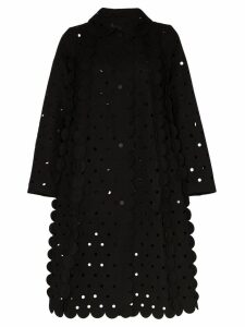 Paskal cut-out disc coat - Black