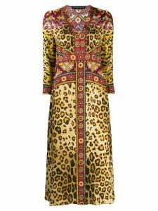 Etro leopard-print midi dress - Brown