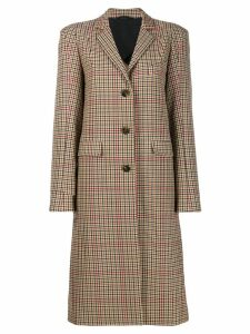Vivienne Westwood Anglomania plain button coat - Neutrals
