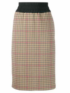 Vivienne Westwood Anglomania plaid print skirt - Neutrals
