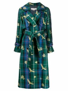 Golden Goose checked jacquard coat - Green