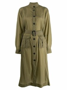 Ganni Ripstop Dress - Green