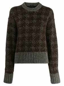Joseph houndstooth knitted sweater - Brown