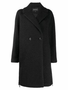 Emporio Armani single-breasted coat - Black
