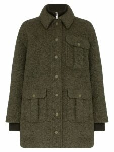 GANNI double-layered utility pocket coat - Green