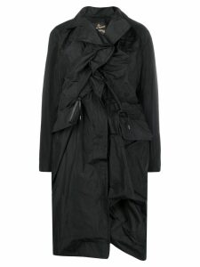 Vivienne Westwood Anglomania ruched front coat - Black