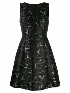 Ea7 Emporio Armani camouflage v-neck dress - Multicolour