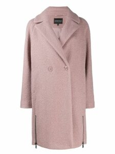 Emporio Armani double-breasted coat - Pink