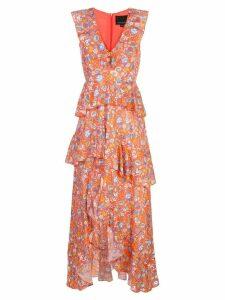 Cynthia Rowley Savannah Tiered Maxi Dress - Orange