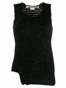 Comme Des Garçons textured knit top - Black