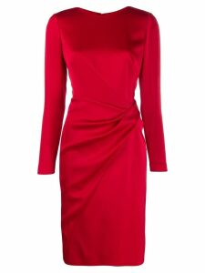 Paule Ka ruched detail dress - Red