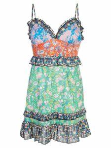 Cynthia Rowley Charlotte Patchwork Mini Dress - Multicolour