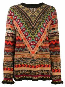 Etro geometric jacquard sweater - Brown