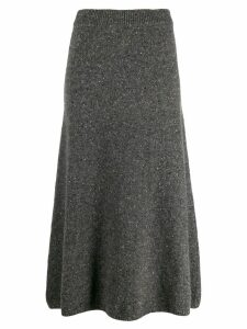 Joseph straight tweed knitted skirt - Grey