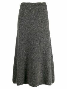 Joseph straight tweed knitted skirt - Grey