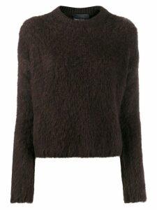Erika Cavallini knitted jumper - Brown