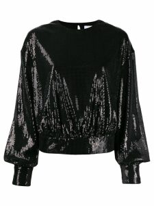 MSGM sequins embellishment knitted sweater - Black
