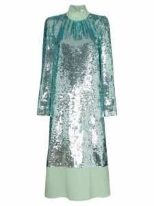 Tibi sequin-embellished midi dress - Green