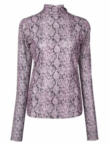 Cinq A Sept Python turtleneck top - Purple