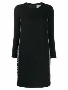 Iceberg logo tape midi dress - Black