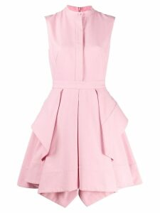 Alexander McQueen draped short dress - Pink
