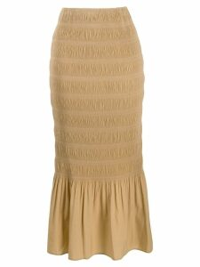 Toteme frill-trim fitted skirt - Neutrals