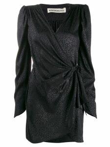 Nineminutes animal print wrap dress - Black