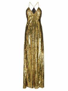 Galvan sequin-embellished long dress - Gold