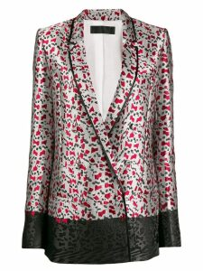 Haider Ackermann all-over print blazer - Grey
