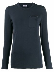Brunello Cucinelli patch pocket T-shirt - C7186 Navy