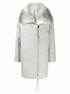 Agnona zipped mid-length coat - Grey