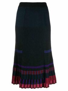 Kenzo ribbed midi skirt - Blue
