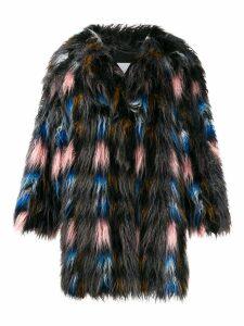 Kenzo midi shearling coat - Pink