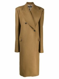 Y/Project double-breasted overcoat - Brown