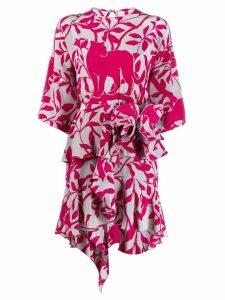 Johanna Ortiz short printed dress - Pink