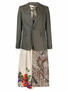 Junya Watanabe longline layered blazer - NEUTRALS