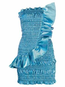 Area strapless ruched dress - Blue