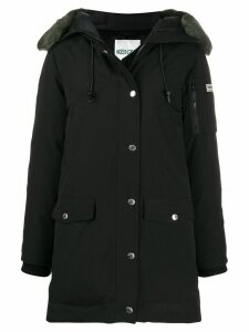 Kenzo long sleeves hooded parka - Black
