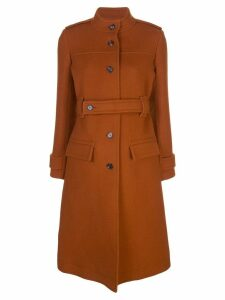 Chloé belted single-breasted coat - Orange
