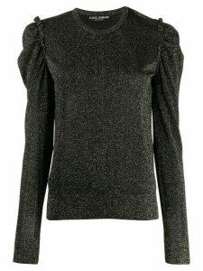 Dolce & Gabbana ruched shoulder top - Black