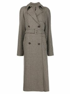 Rokh houndstooth check trench coat - Neutrals