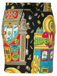 Moschino Casino print sweat skirt - Multicolour