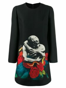 Valentino x Undercover Lovers print dress - Black