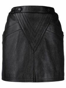 Saint Laurent lambskin mini skirt - Black