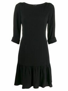 Emporio Armani drop-waist shift dress - Black