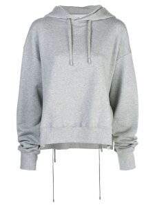 Maison Margiela drawstring back hoodie - Grey