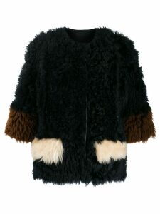 Marni reversible shearling jacket - Blue