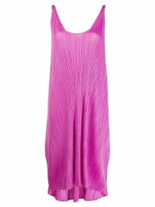 Pleats Please Issey Miyake pleated midi dress - Purple