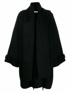 P.A.R.O.S.H. scarf detail coat - Black